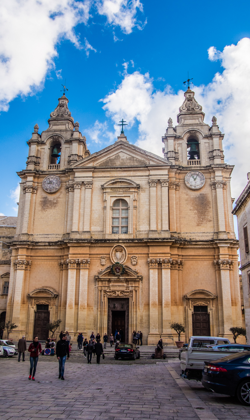 St Paul's Cathedral in Mdina, one of the best things to do in Mdina, Malta