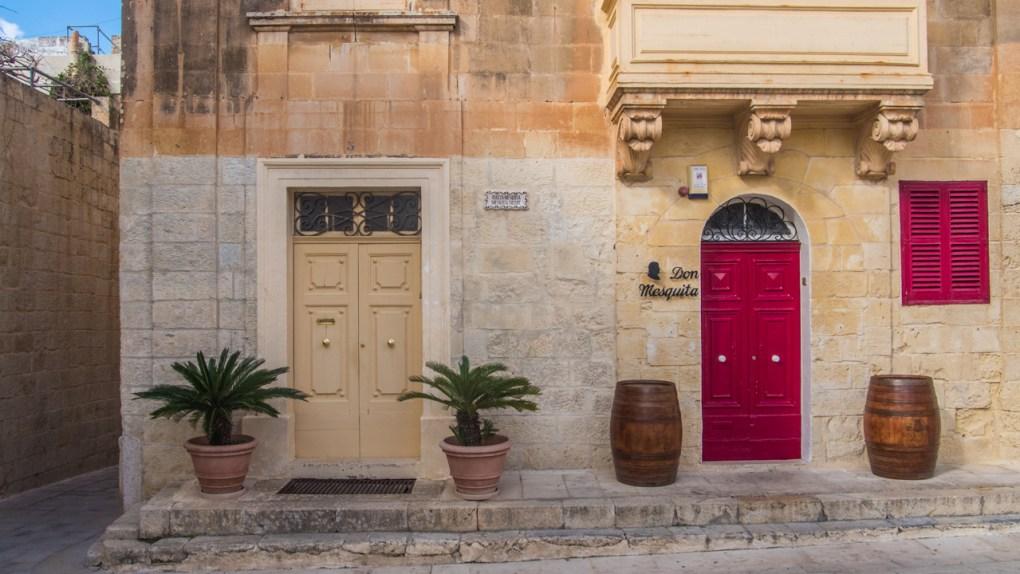 Colourful doors in Mdina, Malta