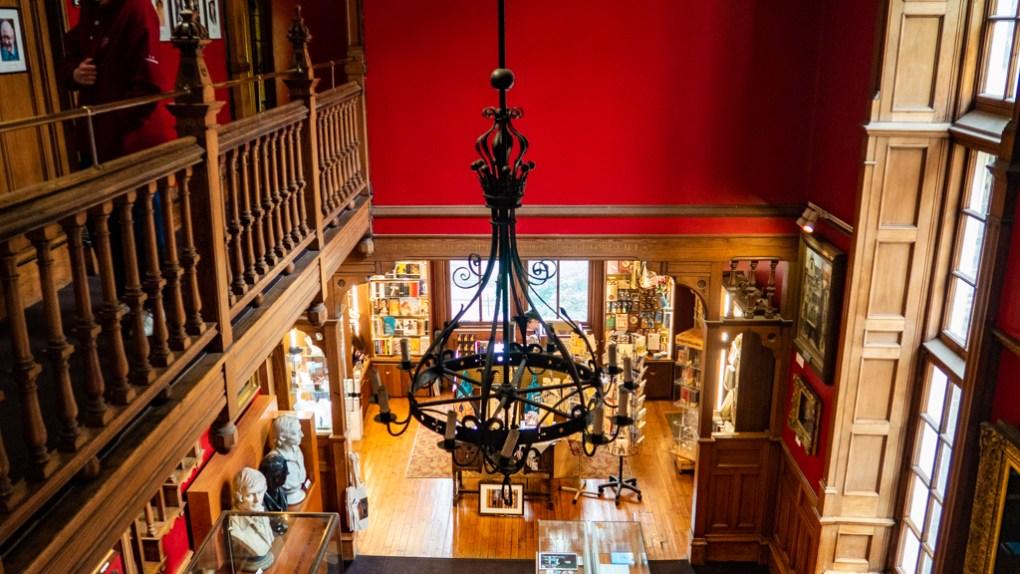 Inside The Writers' Museum in Edinburgh