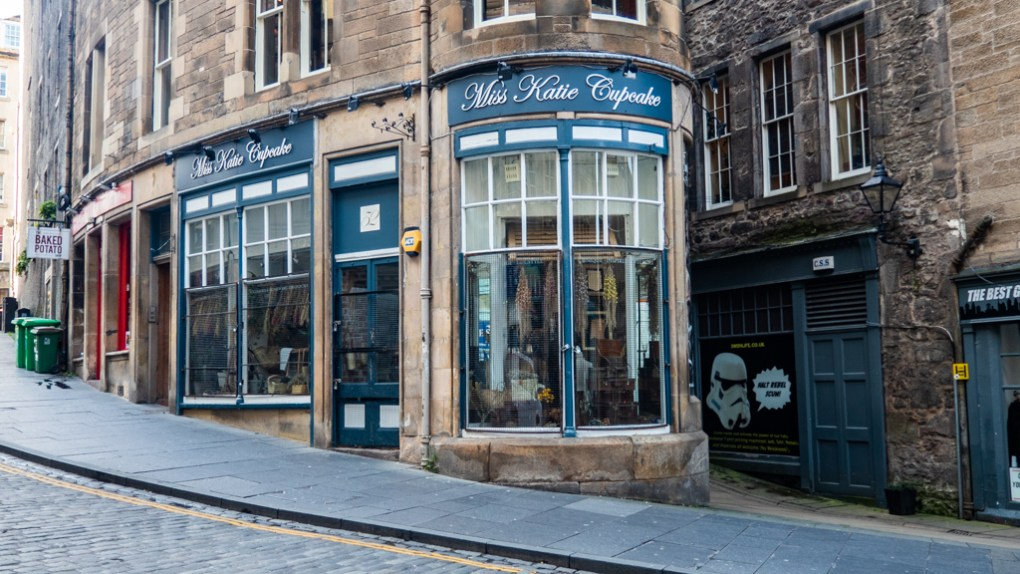 Miss Katie Cupcake shop on Cockburn Street, Edinburgh