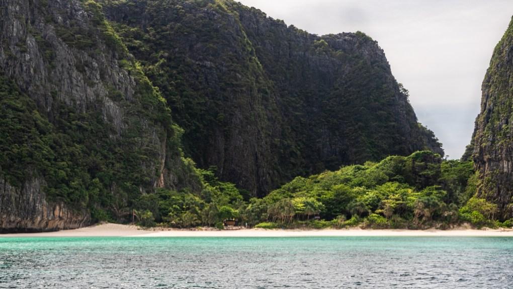 The Beach on Maya Bay on Koh Phi Phi Leh in Thailand