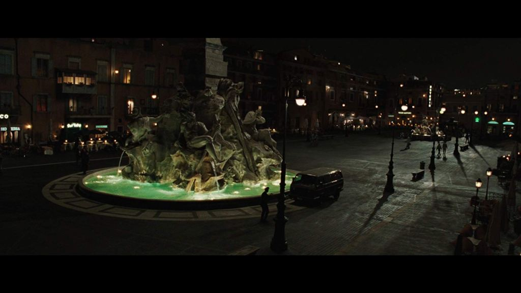 Piazza Navona as seen in Angels and Demons (2009)