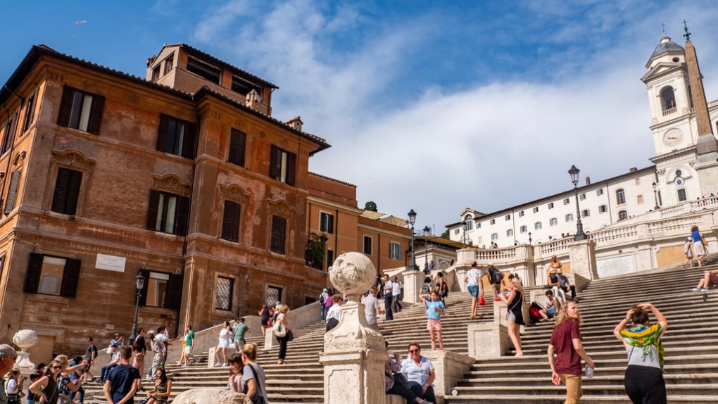 Spanish Steps in Rome, a Roman Holiday Filming Location
