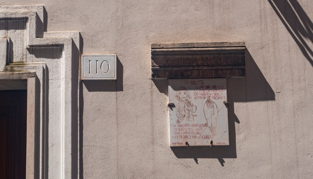 Federico Fellini's apartment on Via Margutta in Rome, one of the best places to visit in Rome for film lovers
