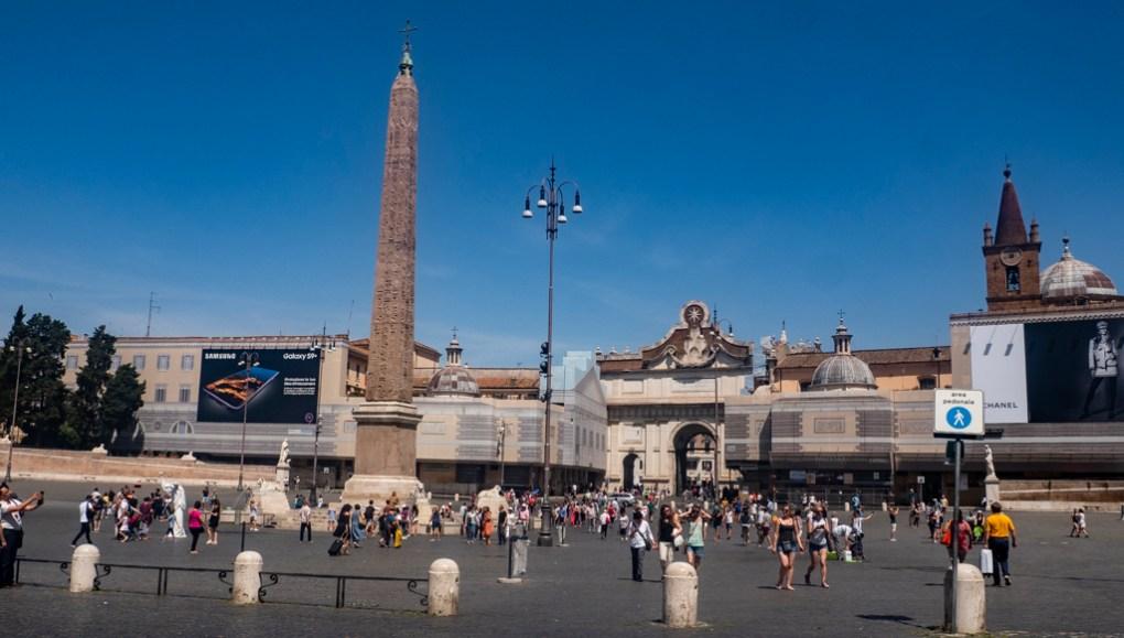 Piazza del Popolo in Rome, a Roman Holiday Filming Location