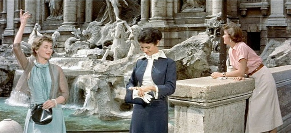Still from Three Coins in the Fountain, a Hollywood film location in Rome, Italy