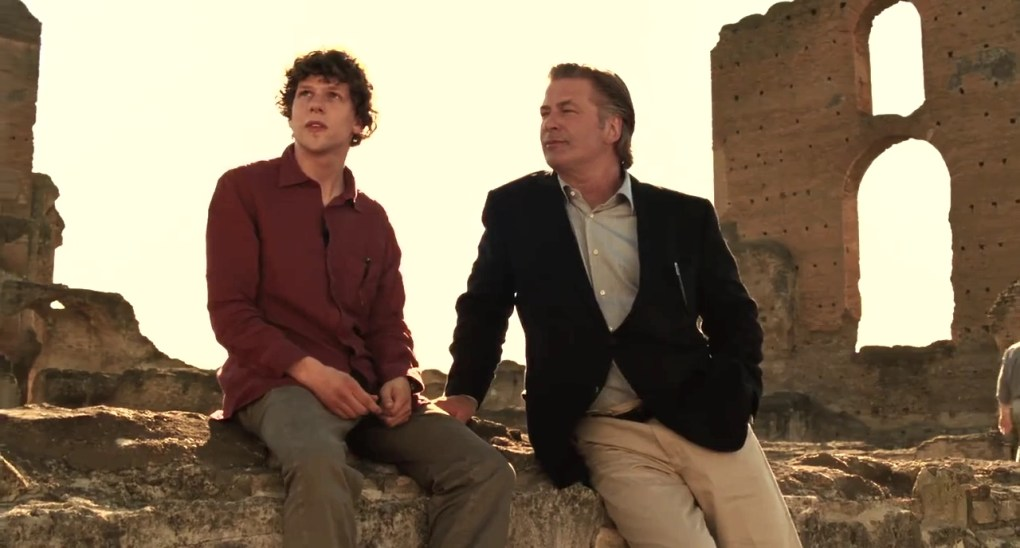 Jack and John sitting on some ruins in To Rome with Love (2012)