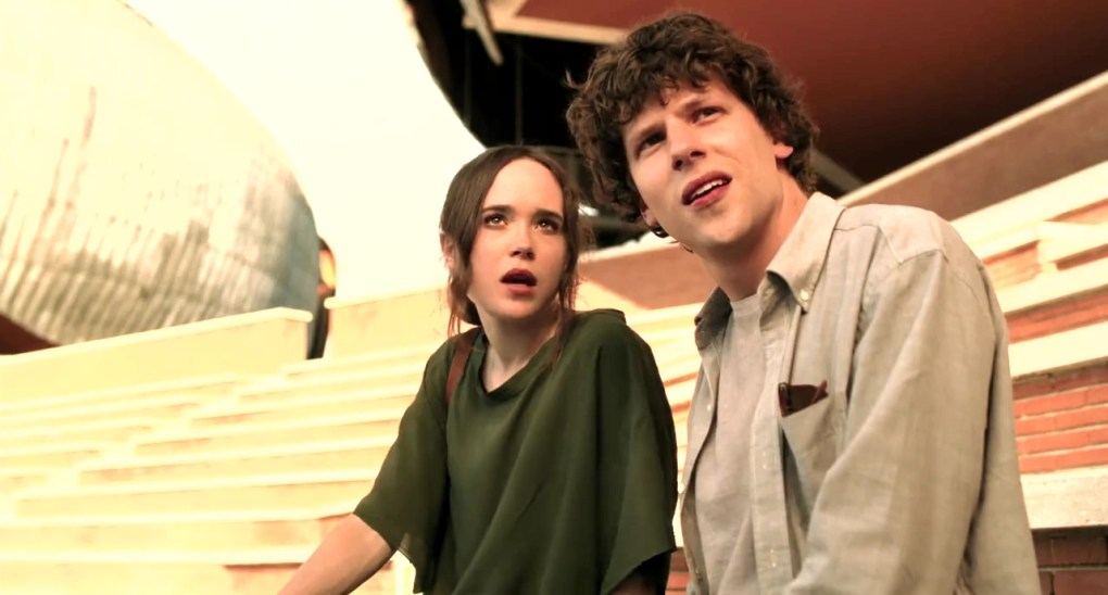 Monica and Jack sit in a music stadium in To Rome with Love (2012)