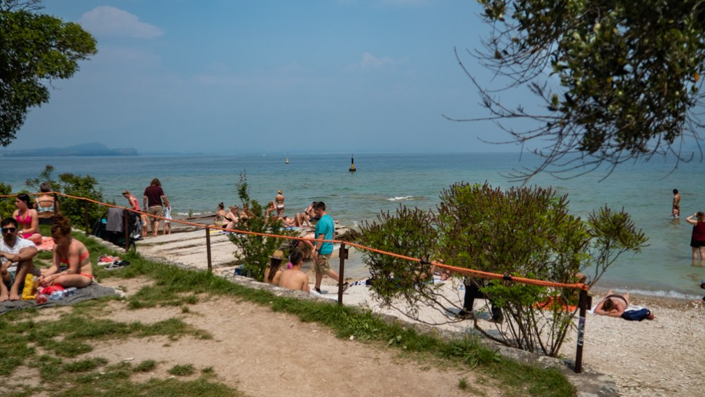 Jamaica Beach on Sirmione, Lake Garda in Italy, a Call Me By Your Name filming location