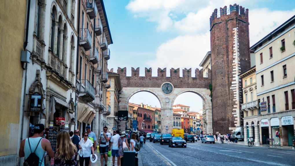 Verona City Gate in Verona, Italy, how to spend 24 hours in Verona