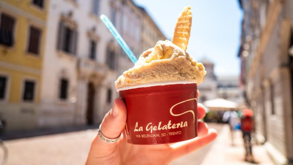 Gelato from La Gelateria in Trento, Italy