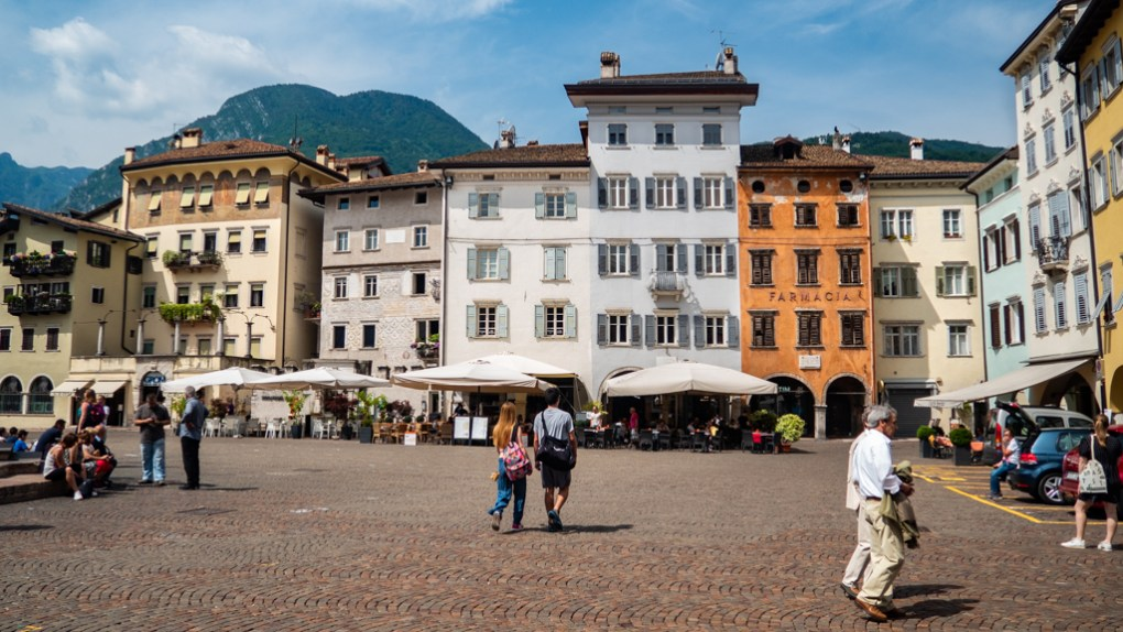 Buildings in Piazza Duomo, Trento in Italy, one of the top things to do in Trento