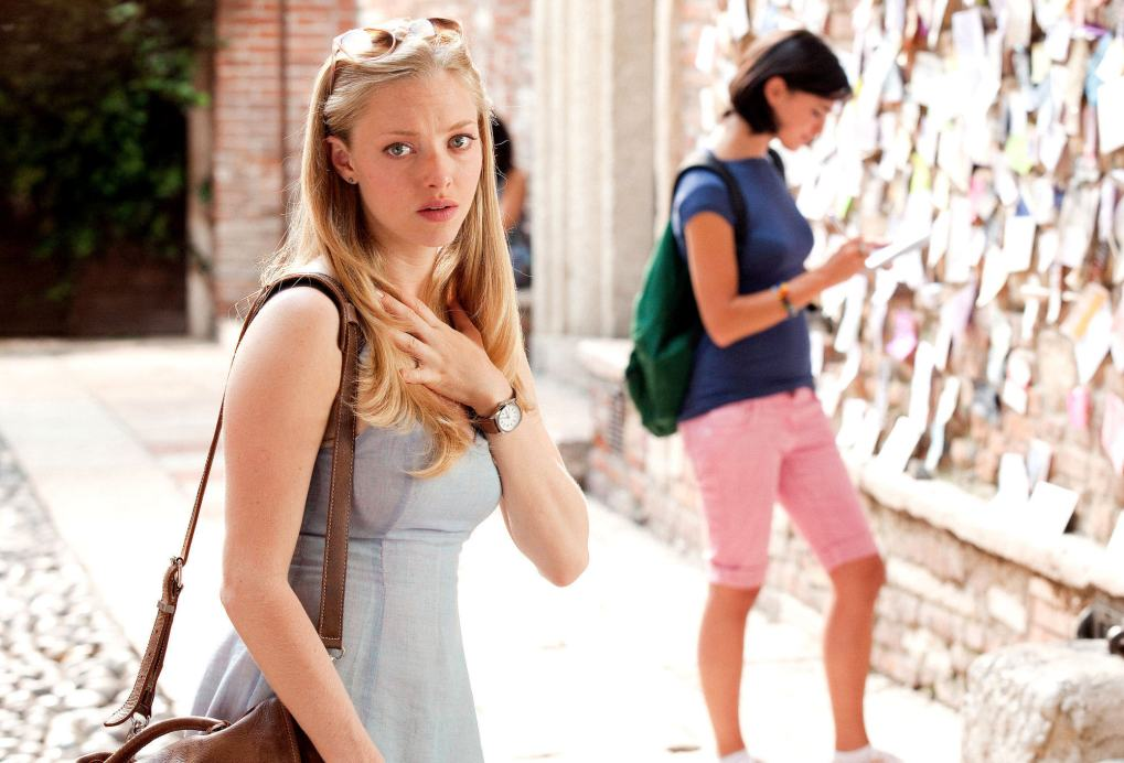 Sophie in the courtyard of Juliet's House in Verona, Italy as seen in Letters to Juliet (2010