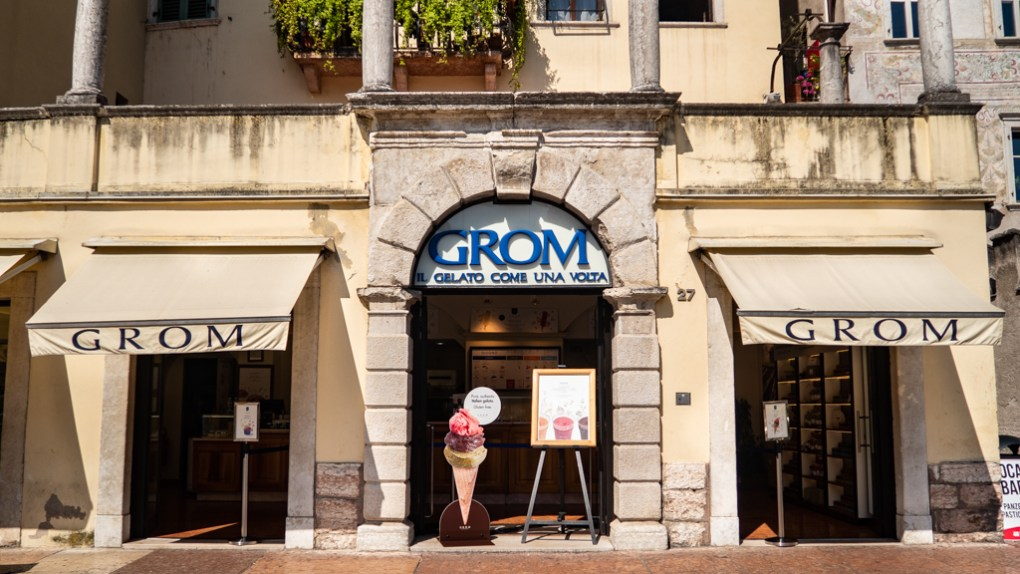 GROM Gelateria in Trento, Italy