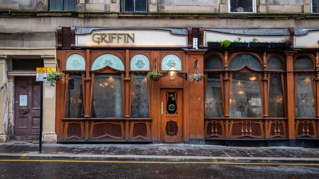 The Griffin Pub in Glasgow, Scotland