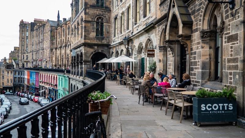 Victoria Terrace in Edinburgh, a Filth Filming Location