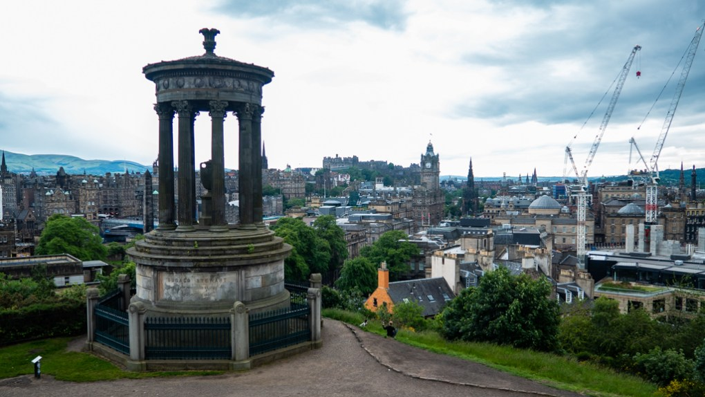 Calton Hill in Edinburgh, UK which is a One Day Filming Location