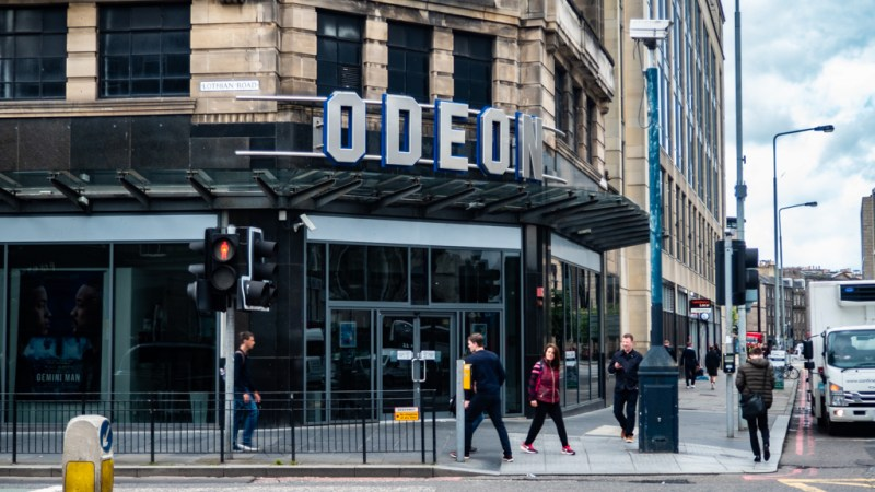 Odeon Cinema on Lothian Road in Edinburgh, UK