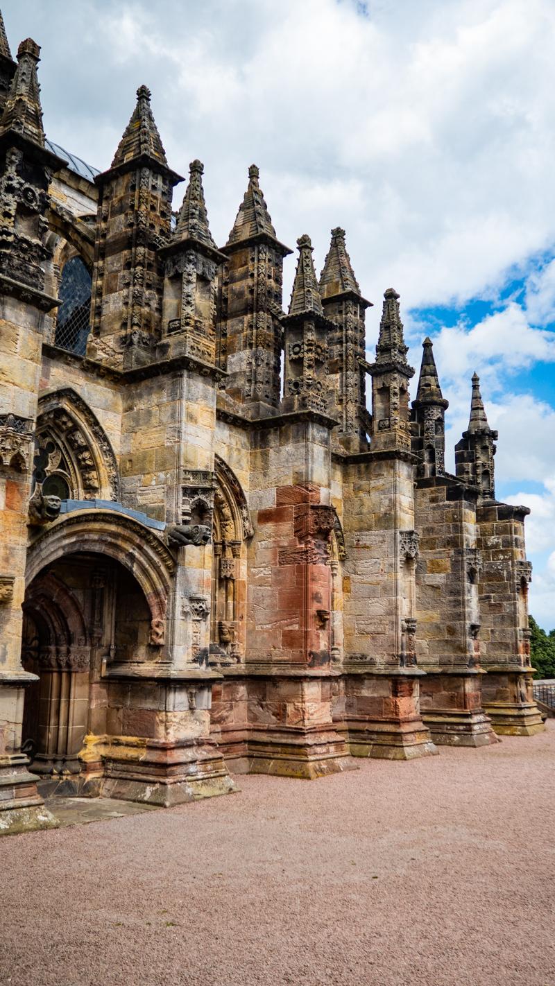Rosslyn Chapel in Edinburgh, UK