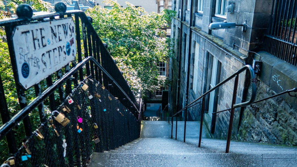 The News Steps in Edinburgh, a Sunshine on Leith filming location