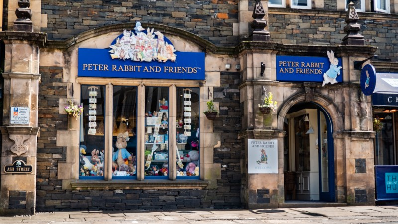 Peter Rabbit and Friends Gift Shop in Bowness-On-Windermere in the Lake District, UK