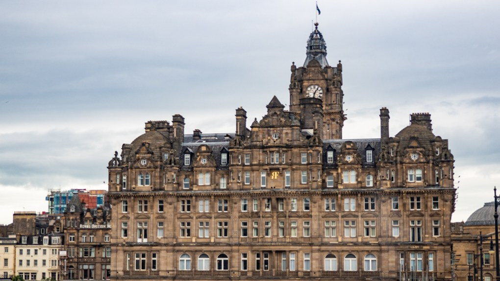 The Balmoral Hotel Clock in Edinburgh, UK which is a One Day Filming Location