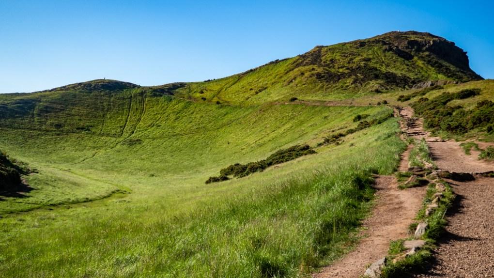 The path up Arthur's Seat in Edinburgh