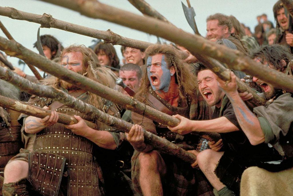 Braveheart, one of the best films set in Scotland
