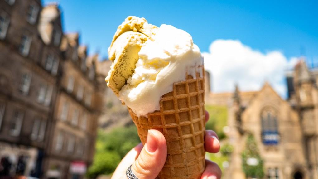 Ice cream/gelato from Mary's Milk Bar in Edinburgh