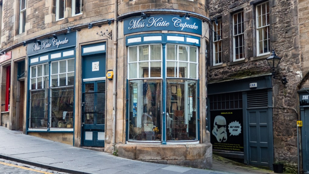 Miss Kate Cupcake Shop on Cockburn Street in Edinburgh