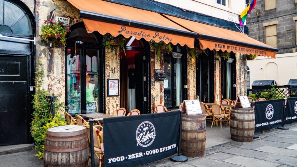 Paradise Palms Pub and Restaurant in Edinburgh   3 Days in Edinburgh