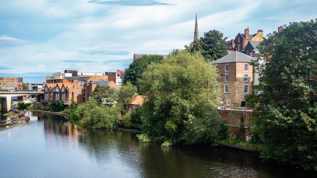 View of Durham from Framwellgate Bridge