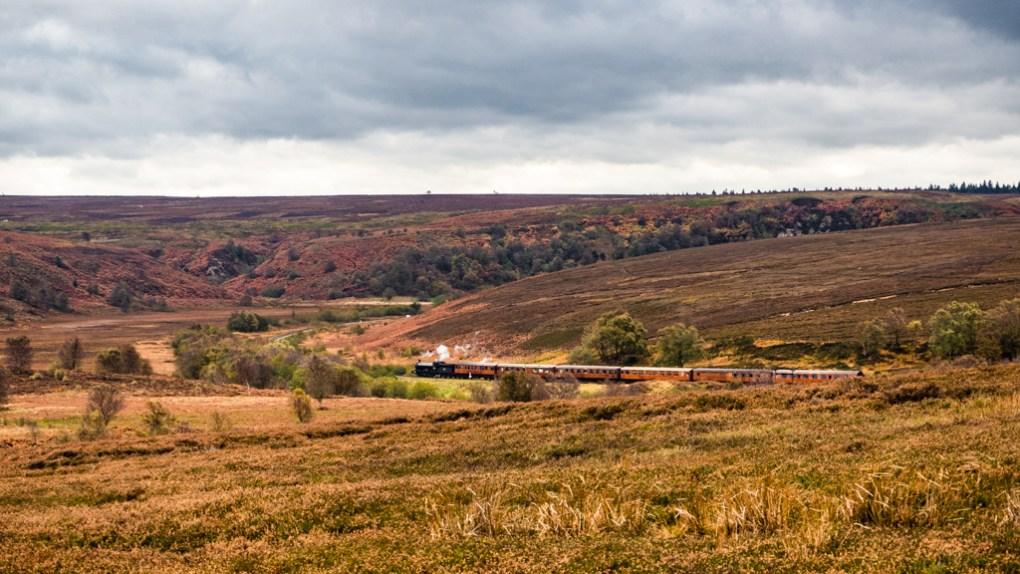 Steam train on the North Yorkshire Moors Railway