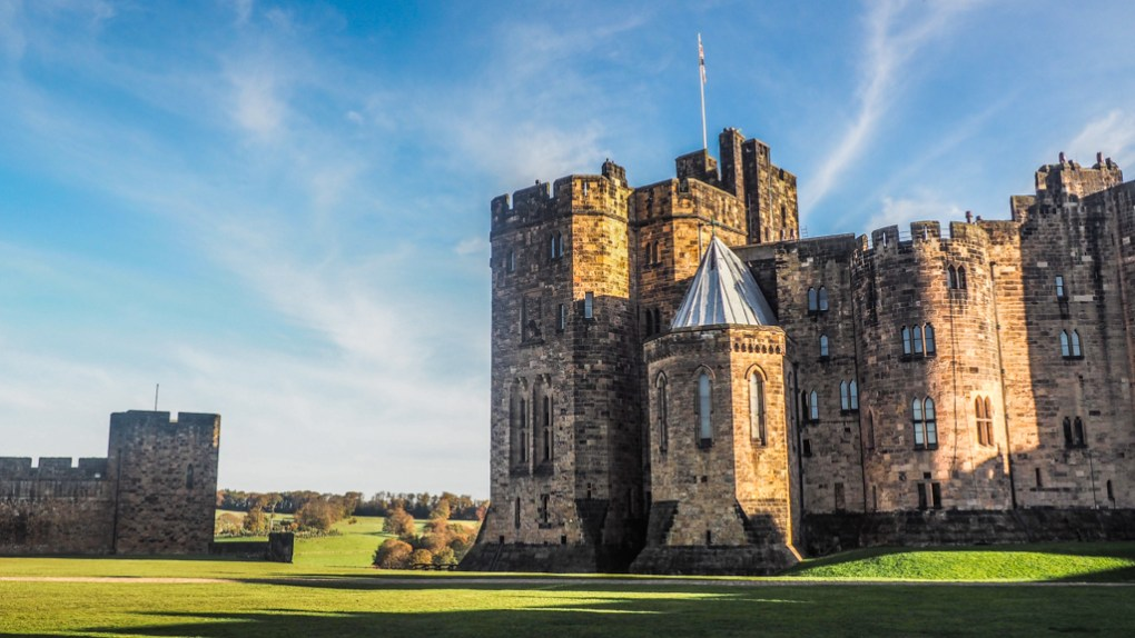 The Outer Bailey at Alnwick Castle, a Harry Potter Filming Location in North East England