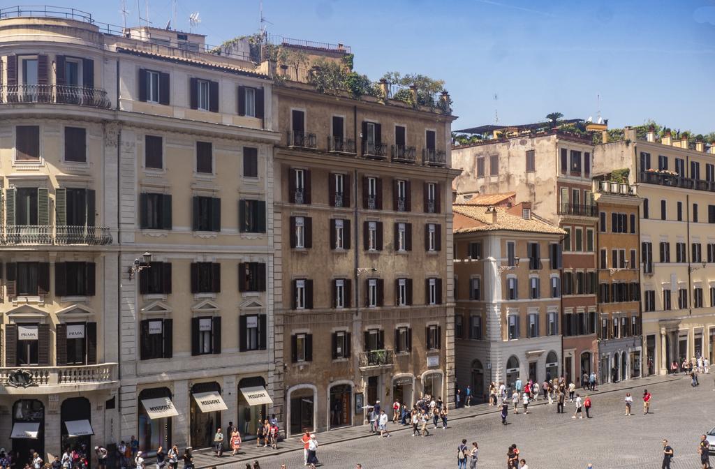 Piazza di Spagna in Rome, Italy