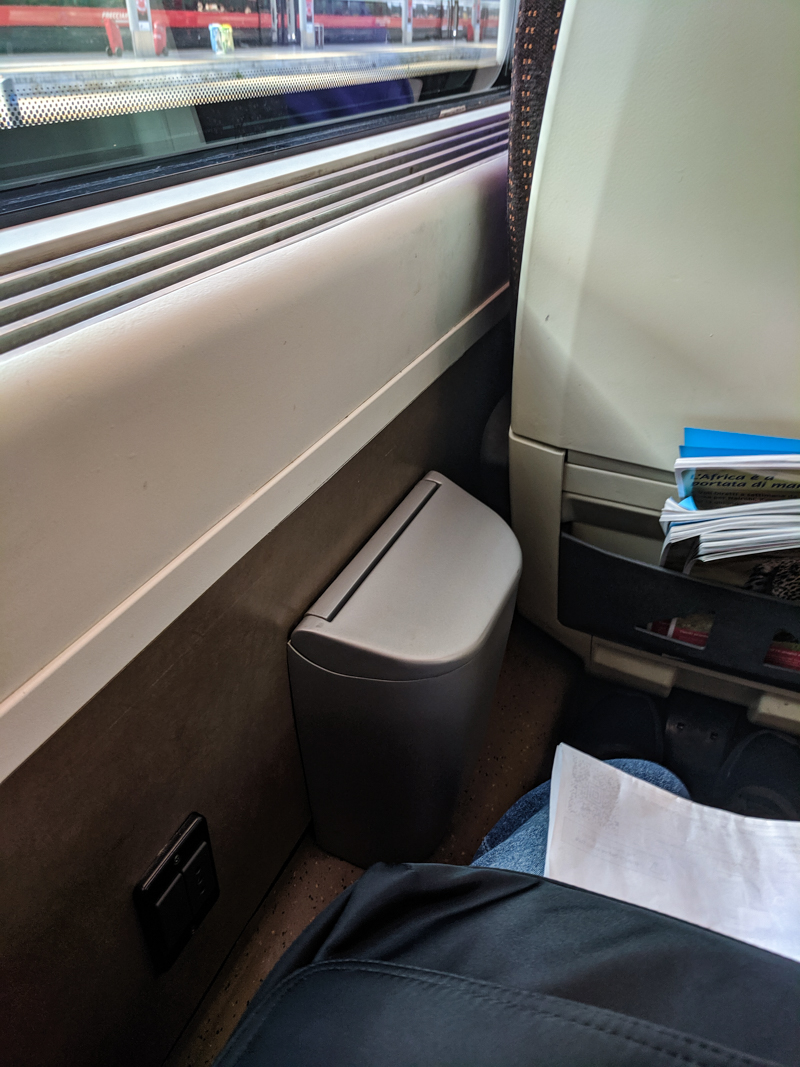 Inside intercity Trenitalia trains in Italy