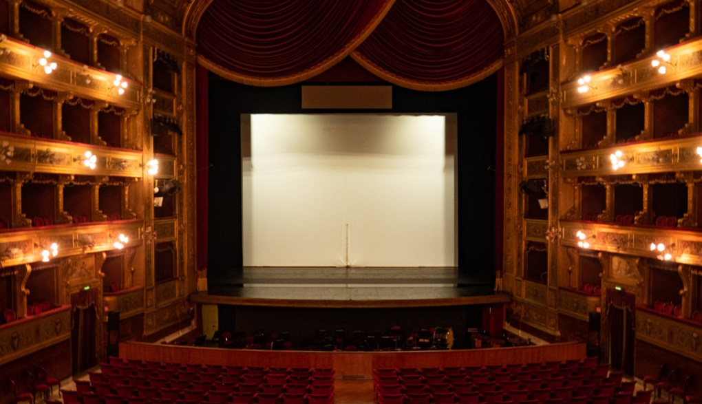Inside Teatro Massimo in Palermo, Sicily