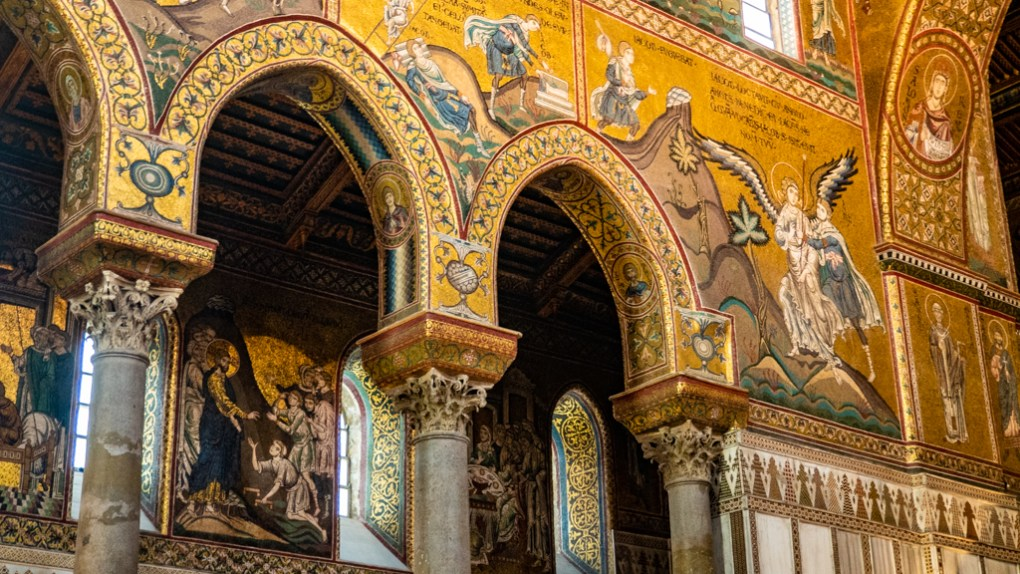 Inside Monreale Cathedral in Monreale near Palermo, Sicily