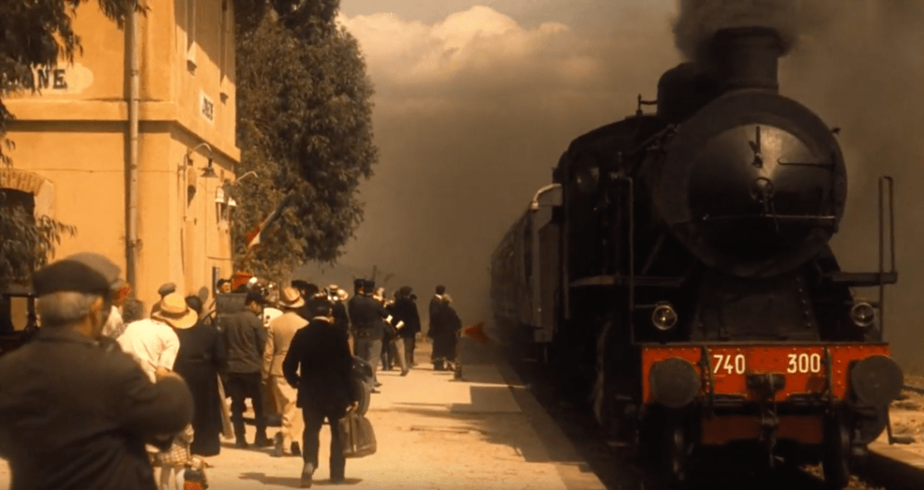 Sparagogna Train Station, one of The Godfather filming locations in Sicily
