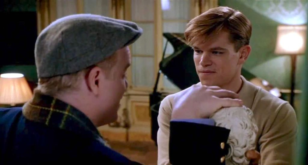 Freddie and Tom in Tom's apartment in Rome, one of The Talented Me Ripley filming locations
