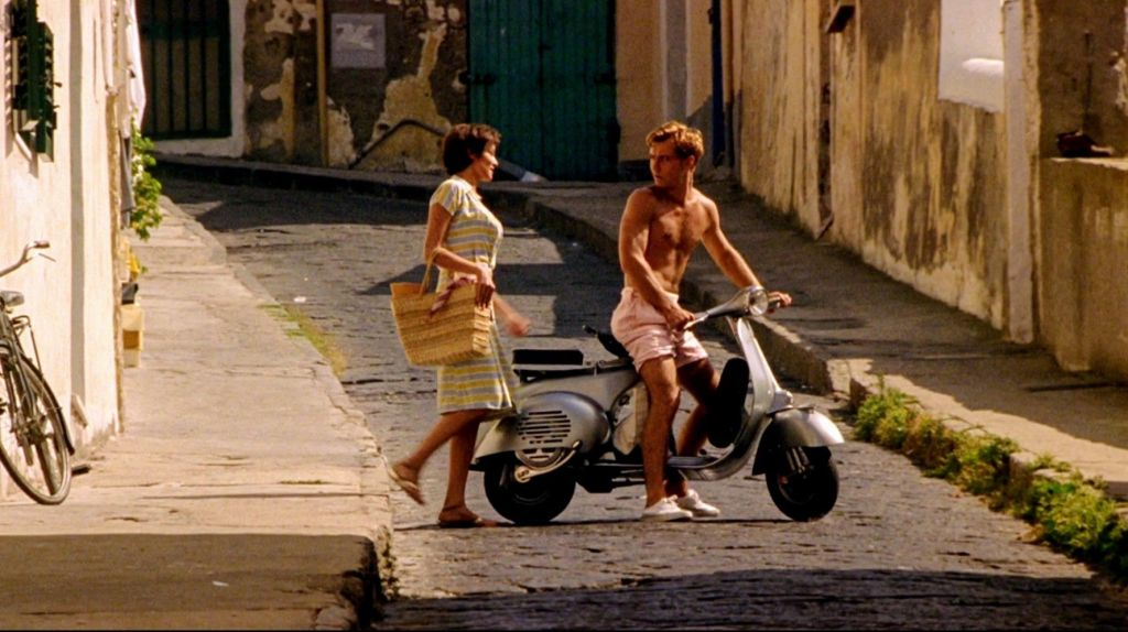 Dickie and Silvana on Procida Island, one of The Talented Me Ripley filming locations