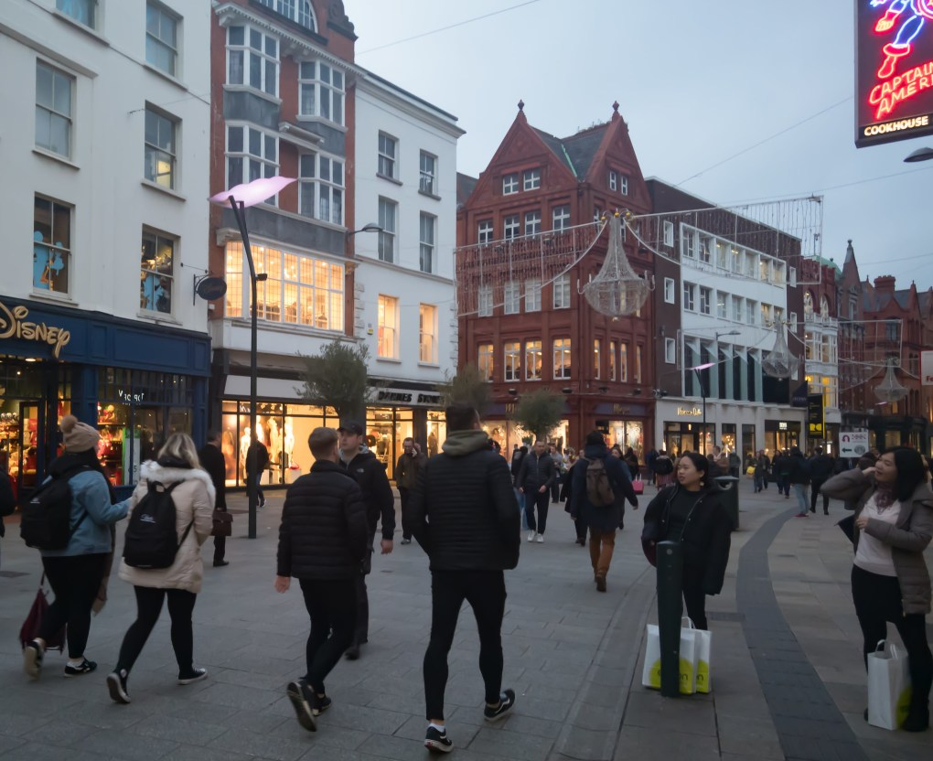 Grafton Street in Dublin, Ireland