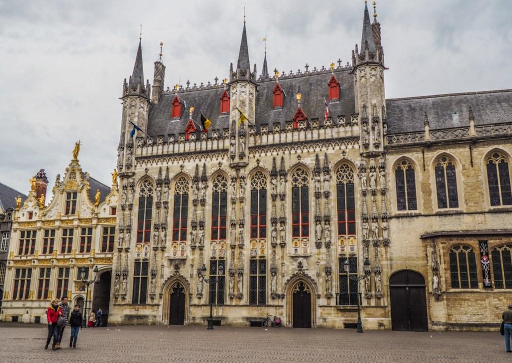 De Burg Square in Bruges, Belgium