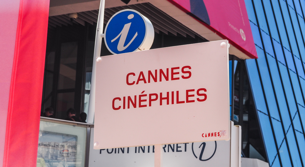 Cannes Cinephile sign at the Cannes Film Festival 2017