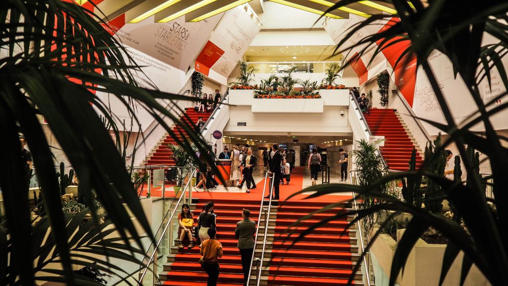 Inside Palais des Festivals at Cannes Film Festival 2017