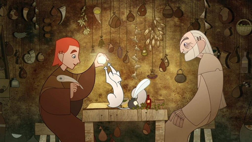 Film still from The Secret of Kells, a film set in Ireland