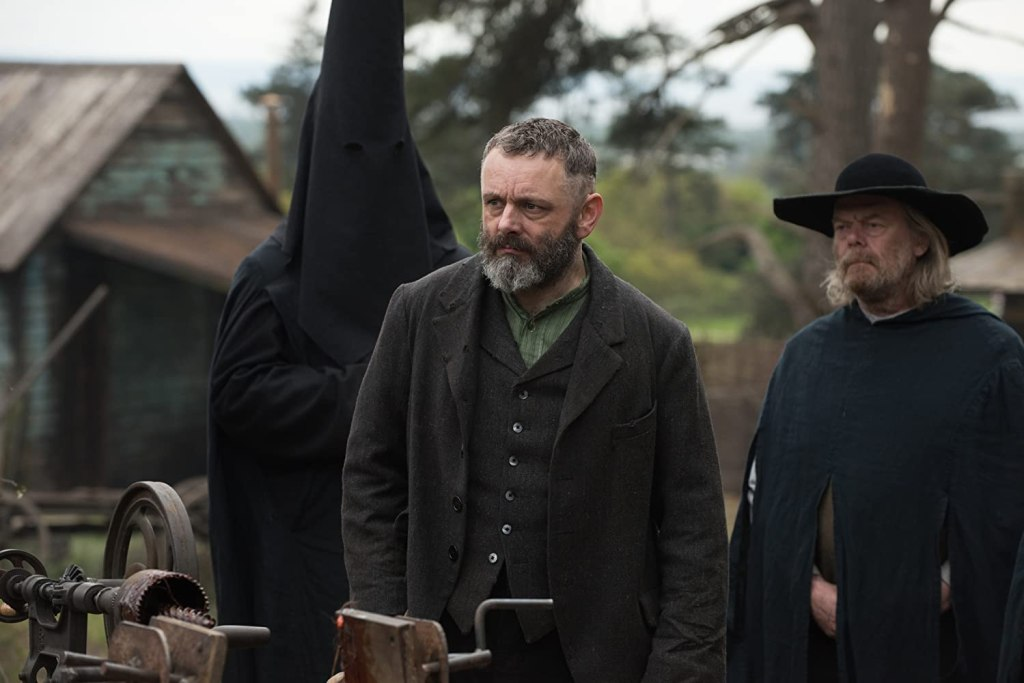 Film still from Apostle, a film set in Wales, UK
