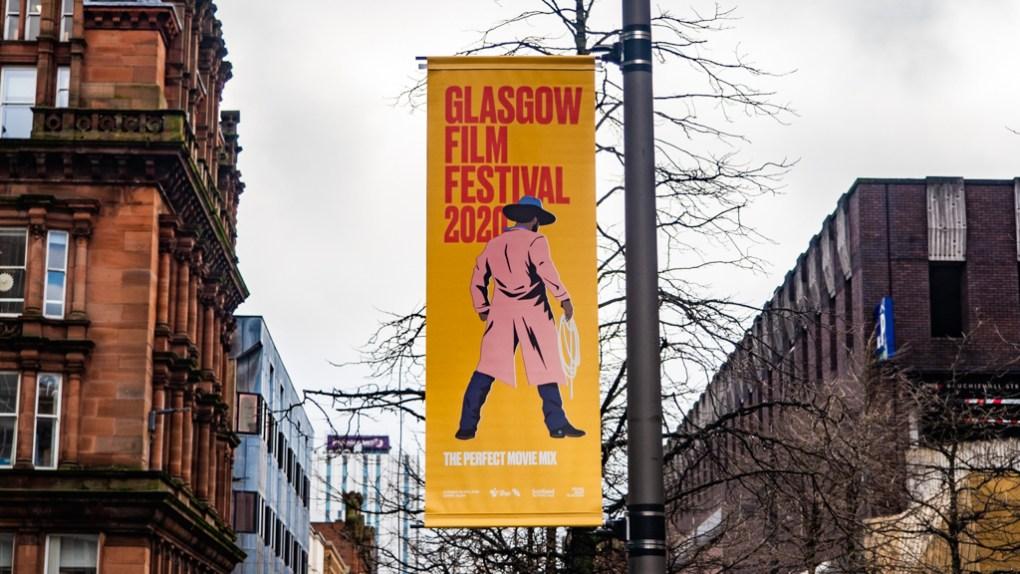 Glasgow Film Festival 2020 Street Sign in Glasgow City Centre