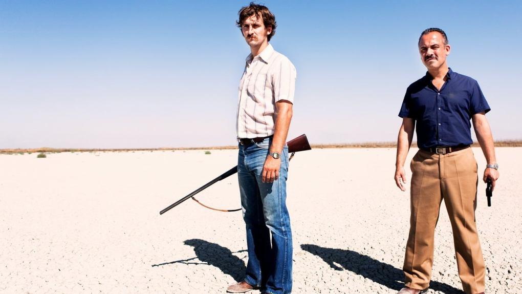 Film still from Marshland, a film set in Spain