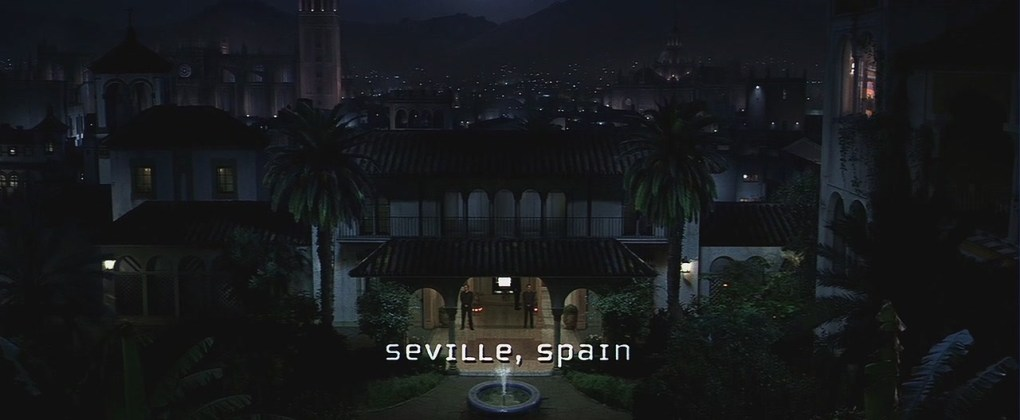Film still from Mission: Impossible 2, a film set in Spain